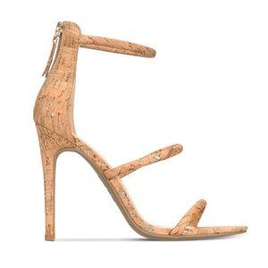 Brand New Bebe Berdine Ankle-Strap Stilettos